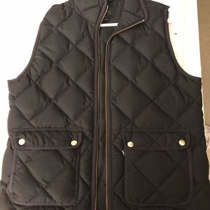J Crew Quilted Down Vest